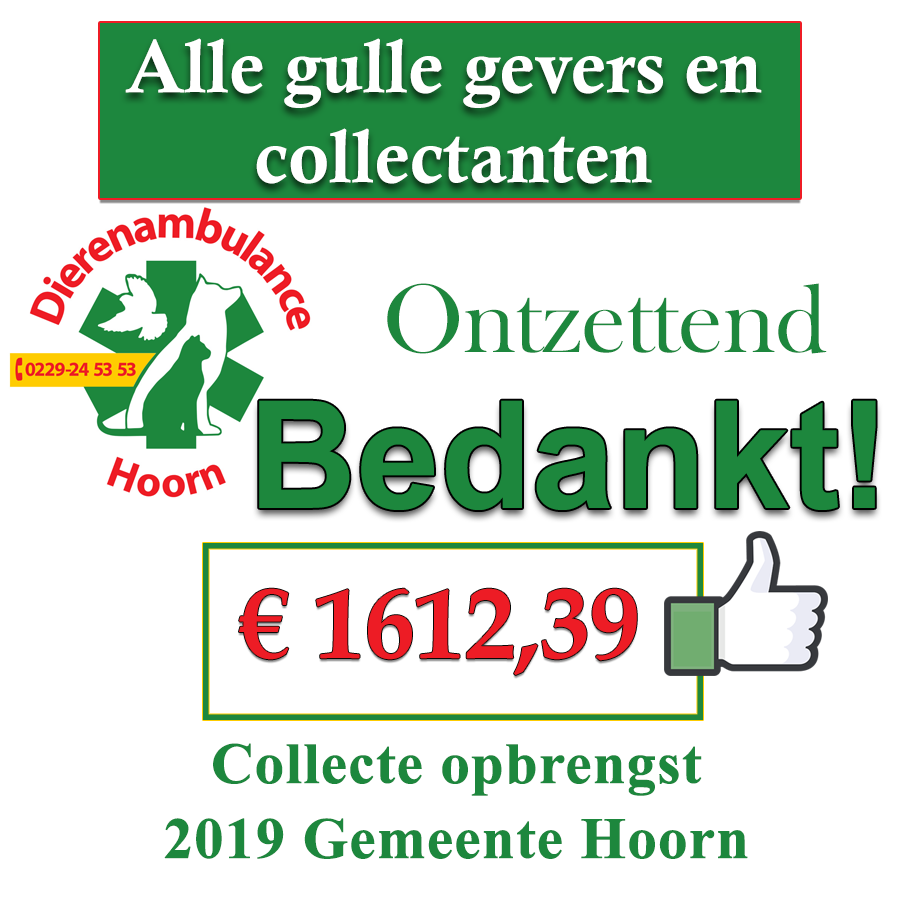 Opbrengst collecte in Hoorn